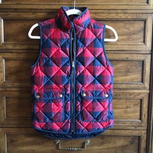 J. Crew Buffalo Checked Excursion Vest